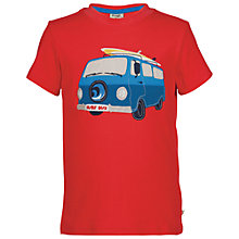 Buy Frugi Boys' Wheels Camper Applique T-Shirt, Red Online at johnlewis.com