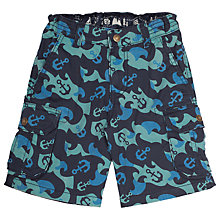 Buy Frugi Organic Boys' Explorer Wave Shorts, Blue Online at johnlewis.com