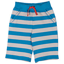Buy Frugi Organic Boys' Samson Stripe Shorts, Blue/Stone Online at johnlewis.com