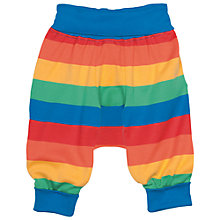 Buy Frugi Organic Baby Parsnip Rainbow Trousers, Multi Online at johnlewis.com