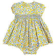 Buy Question Everything Baby Evie Floral Dress and Knickers, Yellow Online at johnlewis.com