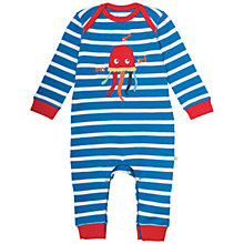 Buy Frugi Organic Baby Stripe Jellyfish Sleepsuit, Blue/Multi Online at johnlewis.com