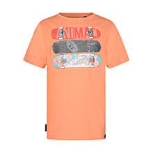 Buy Animal Boys' Gnarly Skateboard T-Shirt, Coral Online at johnlewis.com