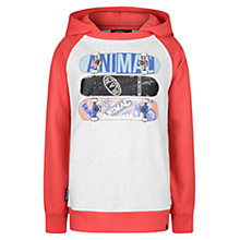 Buy Animal Boys' Indy Skate Print Hoodie, Red/Grey Online at johnlewis.com