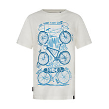 Buy Animal Boys' Bicycle Print T-Shirt, White Online at johnlewis.com