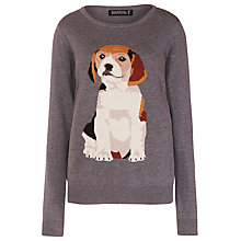 Buy Sugarhill Boutique Intarsia Puppy Print Jumper, Grey Online at johnlewis.com