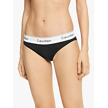 Buy Calvin Klein Modern Cotton Bikini-Cut Briefs, Black Online at johnlewis.com