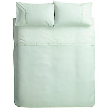Buy John Lewis Bordered Waffle Duvet Cover and Pillowcase Set, Pale Duck Egg Online at johnlewis.com