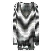 Buy Mango Striped Jumper, Beige/Khaki Online at johnlewis.com