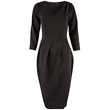 Buy Closet Drape Midi Dress, Black Online at johnlewis.com