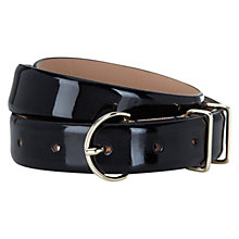 Buy Hobbs Patent Leather Kendal Belt, Black Online at johnlewis.com