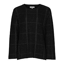 Buy Reiss Dandelion Zip Detail Jumper, Black Online at johnlewis.com