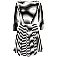 Buy Closet Stripe Skater Dress, Black/White Online at johnlewis.com