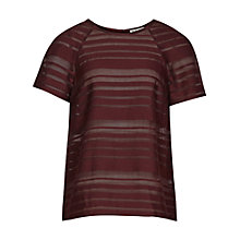 Buy Reiss Imogen T-shirt, Claret Online at johnlewis.com
