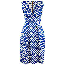 Buy Closet Asymmetric Printed Dress, Blue Online at johnlewis.com