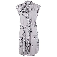 Buy Closet Floral Long Line Shirt Dress, Grey Online at johnlewis.com