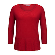 Buy Planet Hem Fine Knit Jumper, Red Online at johnlewis.com