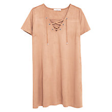 Buy Mango Drawstring Dress, Medium Brown Online at johnlewis.com