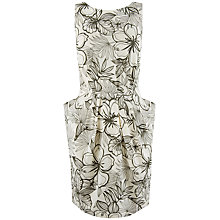 Buy Closet Blu Floral Scoop Dress, Grey Online at johnlewis.com