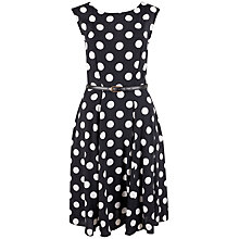 Buy Closet Polka Dot Midi Dress, Black/White Online at johnlewis.com