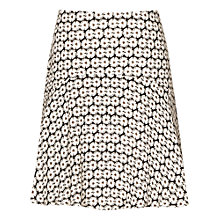 Buy Reiss Tudor Drop Waist Skirt, Black/Off White Online at johnlewis.com