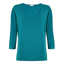 Buy Windsmoor Jersey Top, Turquoise Online at johnlewis.com