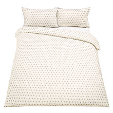 Buy John Lewis Dots Duvet Cover and Pillowcase Set, Grey Online at johnlewis.com