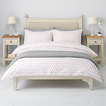 Buy John Lewis Dots Duvet Cover and Pillowcase Set, Pink Online at johnlewis.com