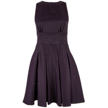 Buy Closet Polka Dot Open Back Dress, Purple Online at johnlewis.com