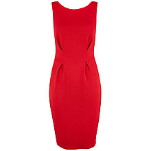 Buy Closet V-Back Textured Dress, Red Online at johnlewis.com