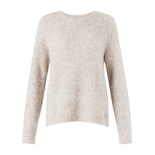 Buy Jigsaw Soft Boucle Jumper, Stone Online at johnlewis.com