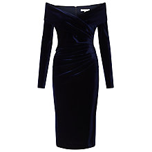 Buy Jacques Vert Velvet Bardot Dress Online at johnlewis.com