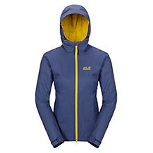 Buy Jack Wolfskin Chilly Morning Insulated Waterproof Women's Jacket, Blue/Yellow Online at johnlewis.com