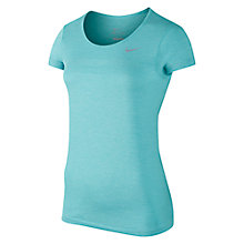 Buy Nike Dri-FIT Knit Short Sleeve Running Top, Copa/Heather Online at johnlewis.com