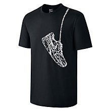 Buy Nike Sneaker T-Shirt, Black Online at johnlewis.com