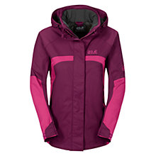 Buy Jack Wolfskin Topaz II Weatherproof Women's Jacket, Purple Online at johnlewis.com