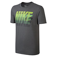 Buy Nike Power Stack T-Shirt, Grey/Yellow Online at johnlewis.com