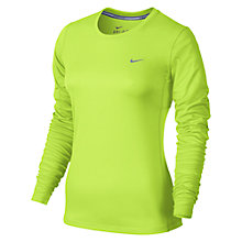 Buy Nike Miler Crew Neck Long Sleeve Running Top Online at johnlewis.com