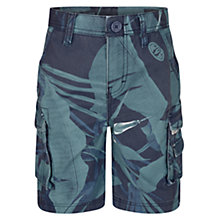 Buy Animal Boys' Floral Cargo Shorts, Cobalt Blue Online at johnlewis.com