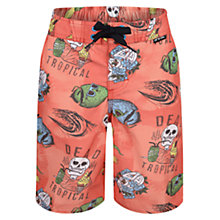 Buy Animal Boys' Ding Skull Swim Shorts, Red Online at johnlewis.com