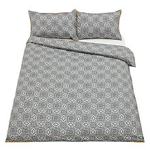 Buy John Lewis Fusion Block Print Duvet Cover and Pillowcase Set Online at johnlewis.com