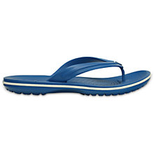 Buy Crocs Crocband Flip Flops, Ultramarine/White Online at johnlewis.com