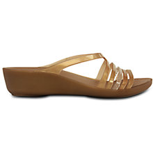 Buy Crocs Isabella Wedge Heeled Sandals, Bronze Online at johnlewis.com