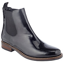 Buy John Lewis Phyliss Flat Heeled Chelsea Boots, Black Patent Online at johnlewis.com