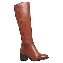Buy Carvela Wright Knee High Boots, Tan Leather Online at johnlewis.com
