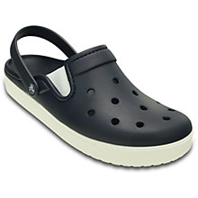 Buy Crocs CitiLane Clogs, Navy/White Online at johnlewis.com