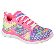 Buy Skechers Sport Flex Appeal Trainers, Multi Online at johnlewis.com