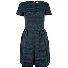 Buy Closet Polka Dot Pleat Front Dress, Teal Online at johnlewis.com