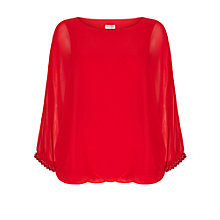 Buy Phase Eight Amari Beaded Blouse, Scarlet Online at johnlewis.com