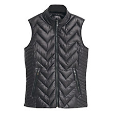 Buy Mango Quilted Gilet, Black Online at johnlewis.com
